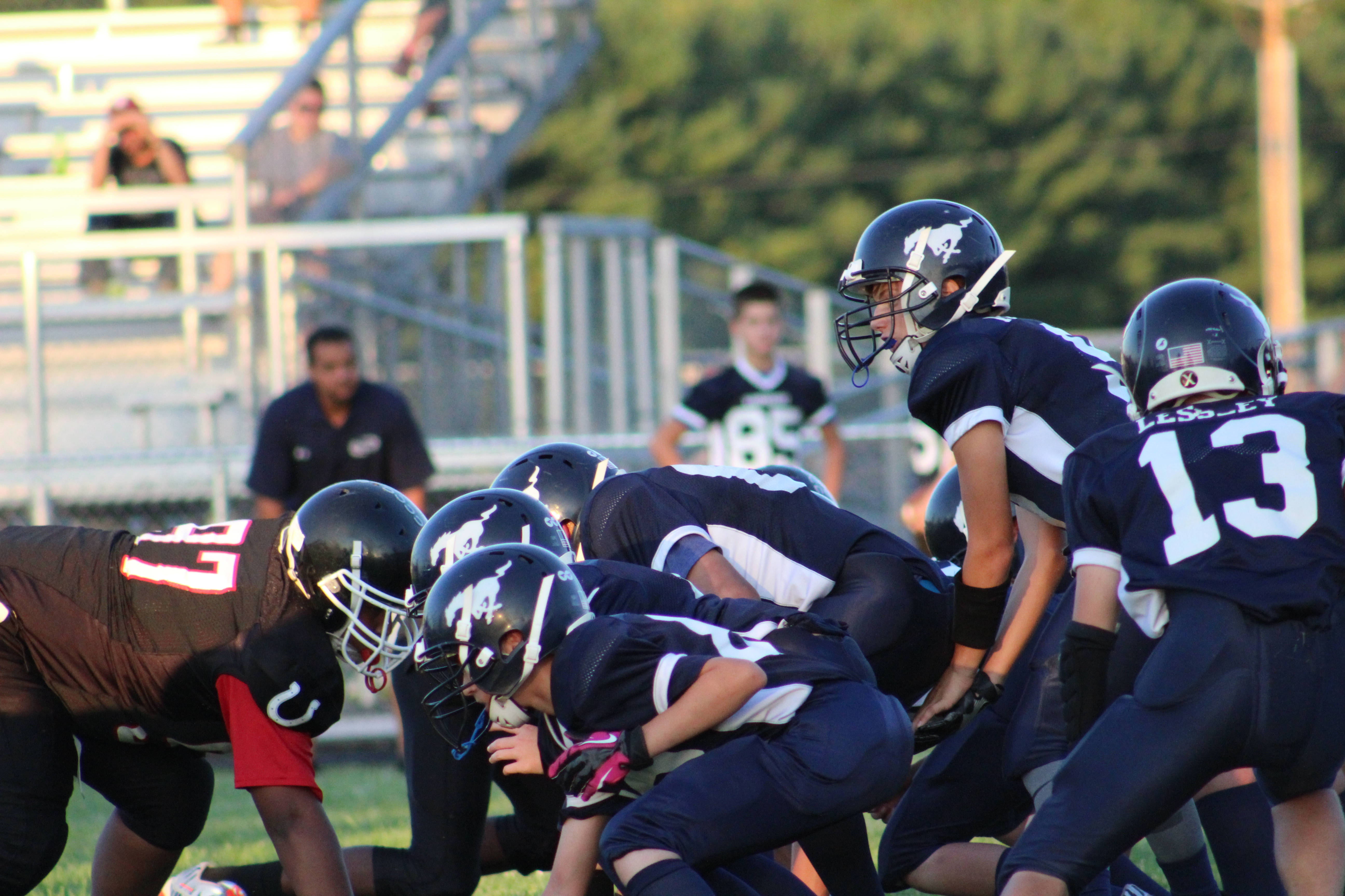 Wainwright football team in action